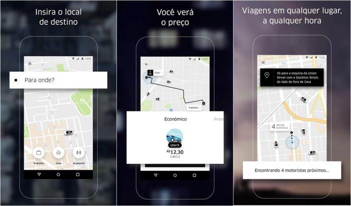 usar app uber
