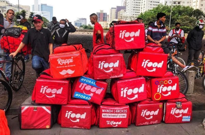 Protesto de entregadores do ifood