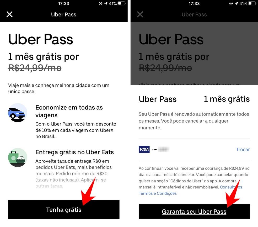 Como fazer a assinatura do Uber Pass?