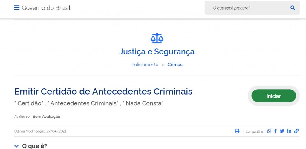 Como emitir a certidão de antecedentes criminais?